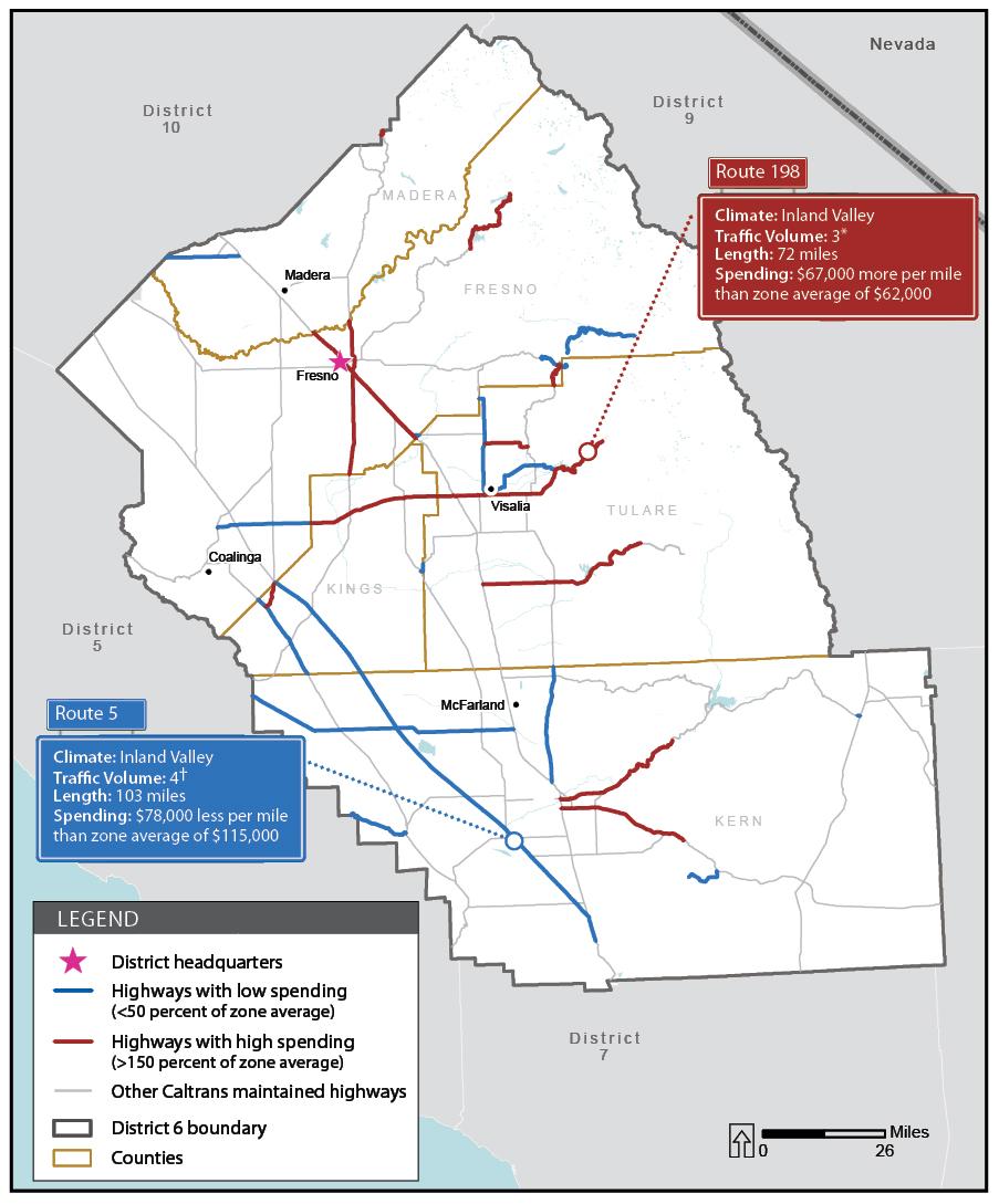 Report - Caltrans traffic map